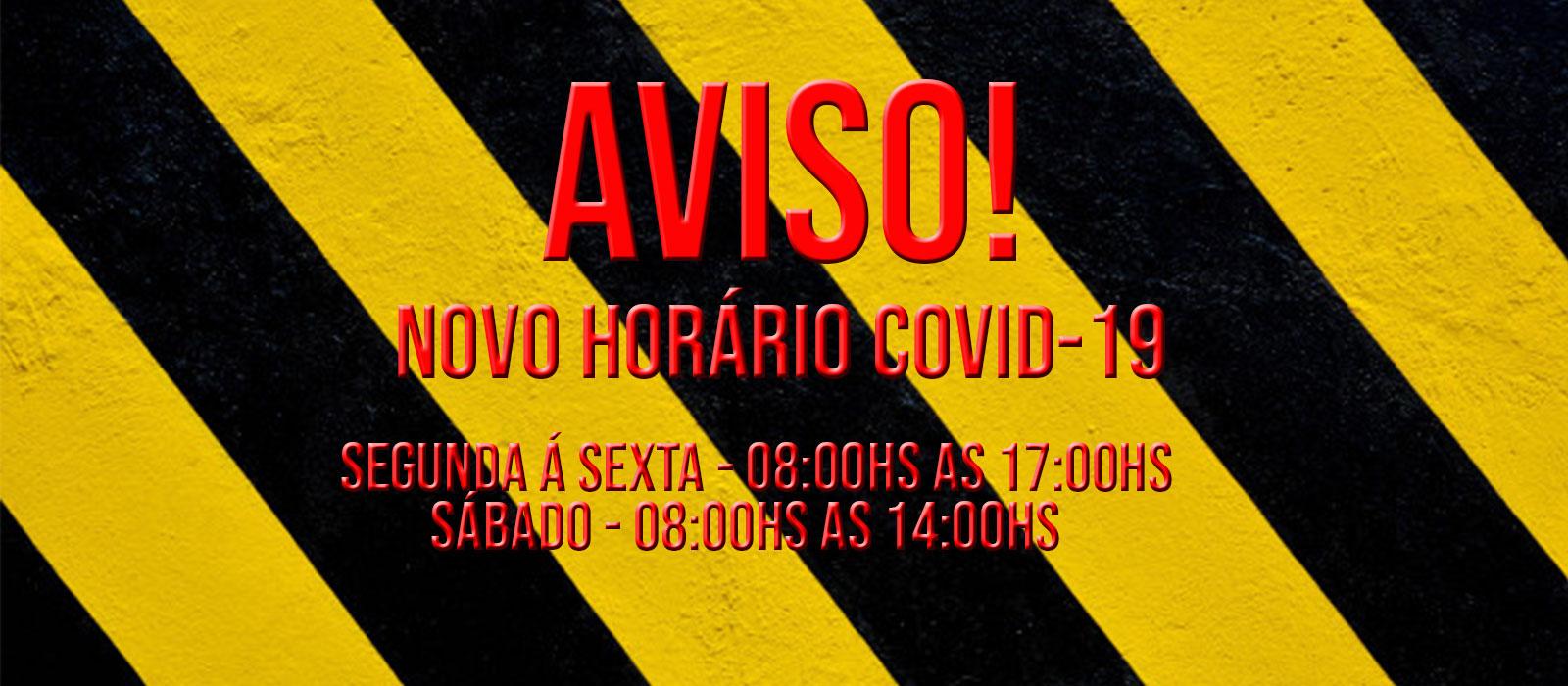 Novo horário covid-19
