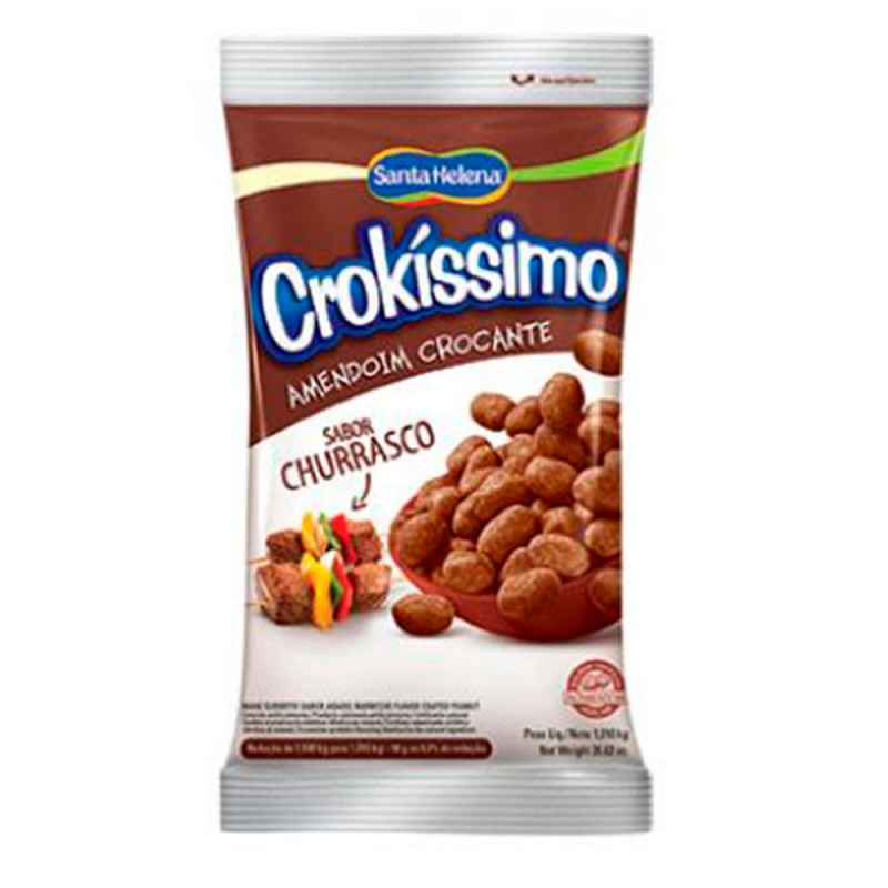 Amendoim Crocante • Sabor Churrasco • 1kg • Crokissimo