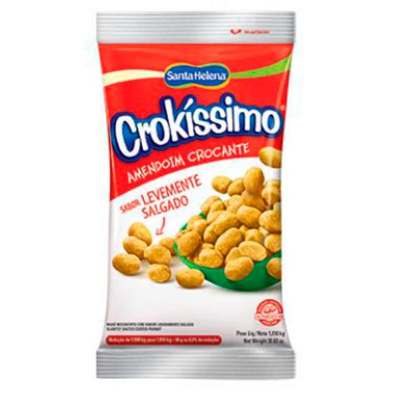 Amendoim Crocante • Sabor Levemente Salgado • Crokissimo 1Kg