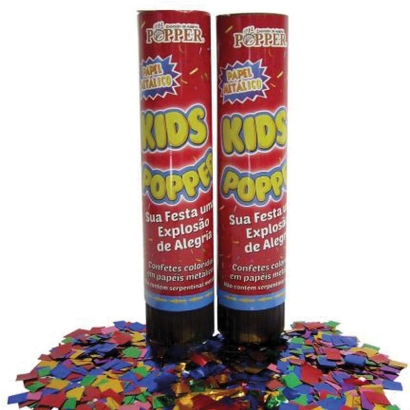 Mini Lança Confetes • Papel Metálico • Colorido