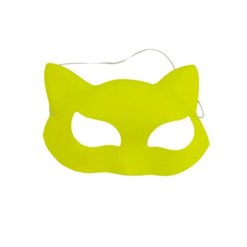 Máscara de Gato • Amarelo Neon