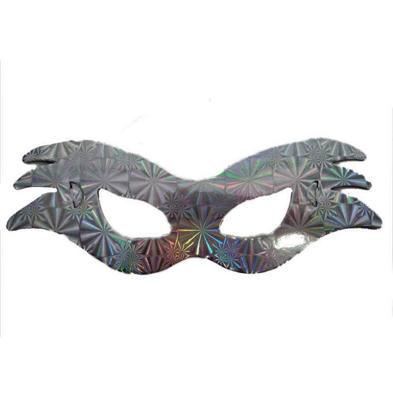 Máscara Holográfica • Prata • Carnaval
