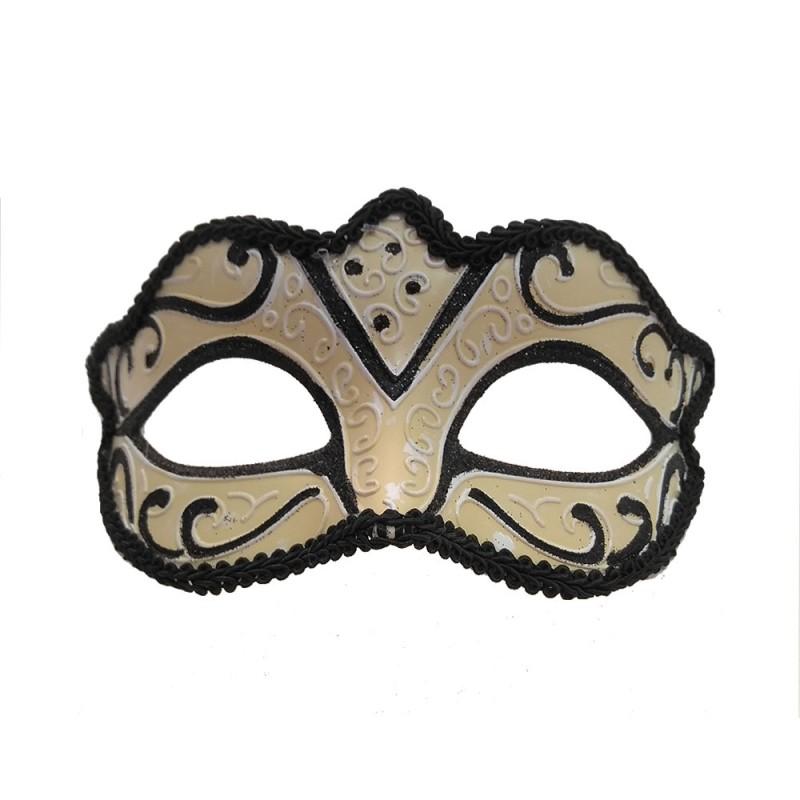 Máscara Veneziana Branca •  Luxo • Carnaval
