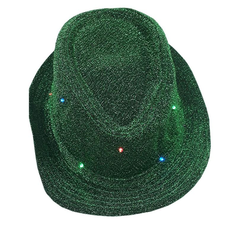Chapéu Led • Verde • Carnaval