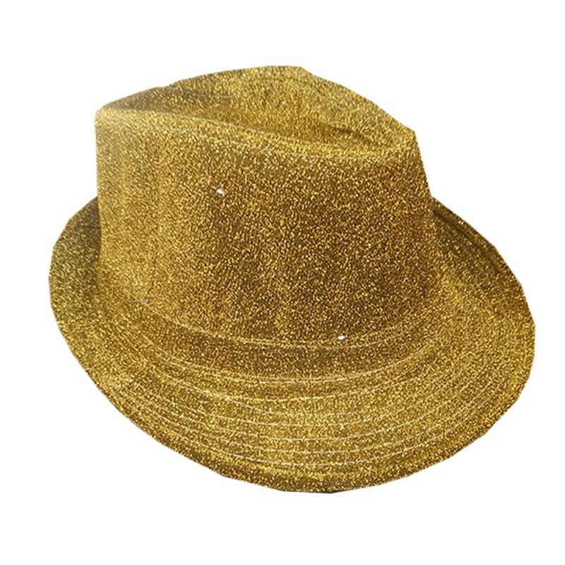 Chapéu Led • Dourado • Carnaval