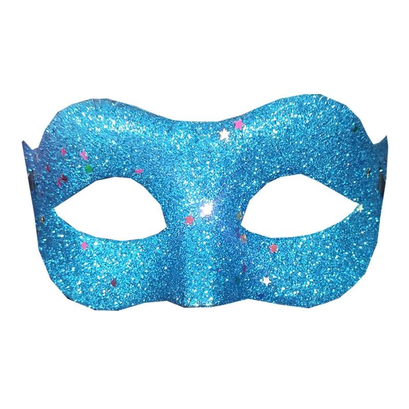 Máscara Metalizada com Glitter • Carnaval