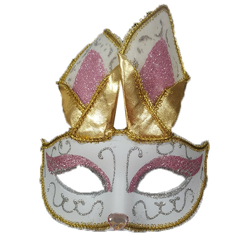 Máscara Gliter • Raposa • Carnaval
