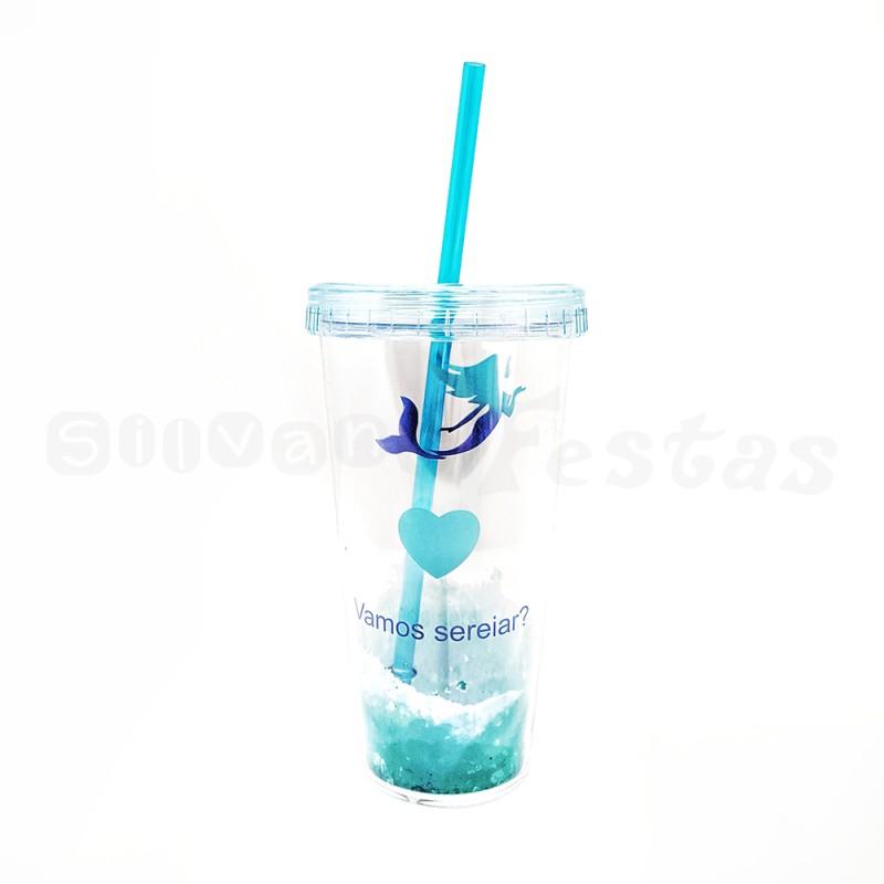 Copo Acrílico • Sereia - Azul • 300ml