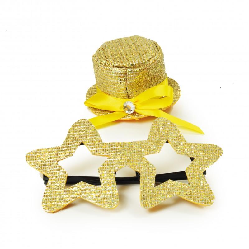 Kit Fantasia Estrela Dourado • Carnaval