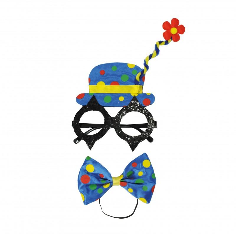 Kit Fantasia Palhaço Azul • Carnaval