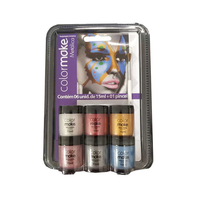 Tinta Facial • Metálica • 6 cores