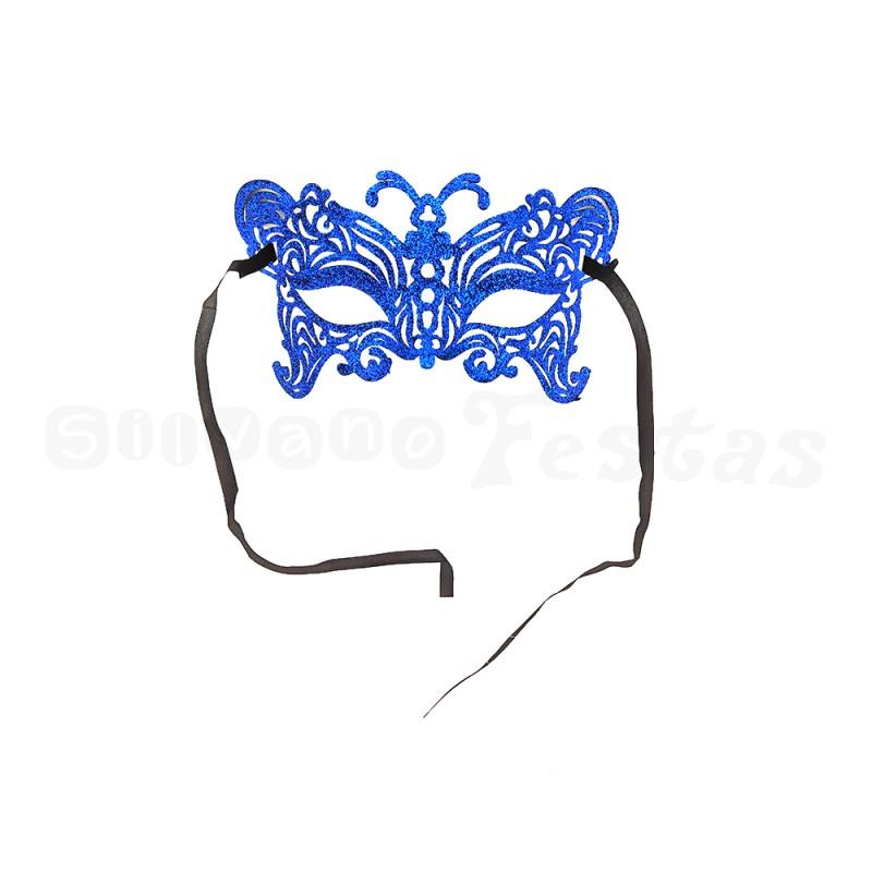 Máscara - Azul • Gliter • Carnaval