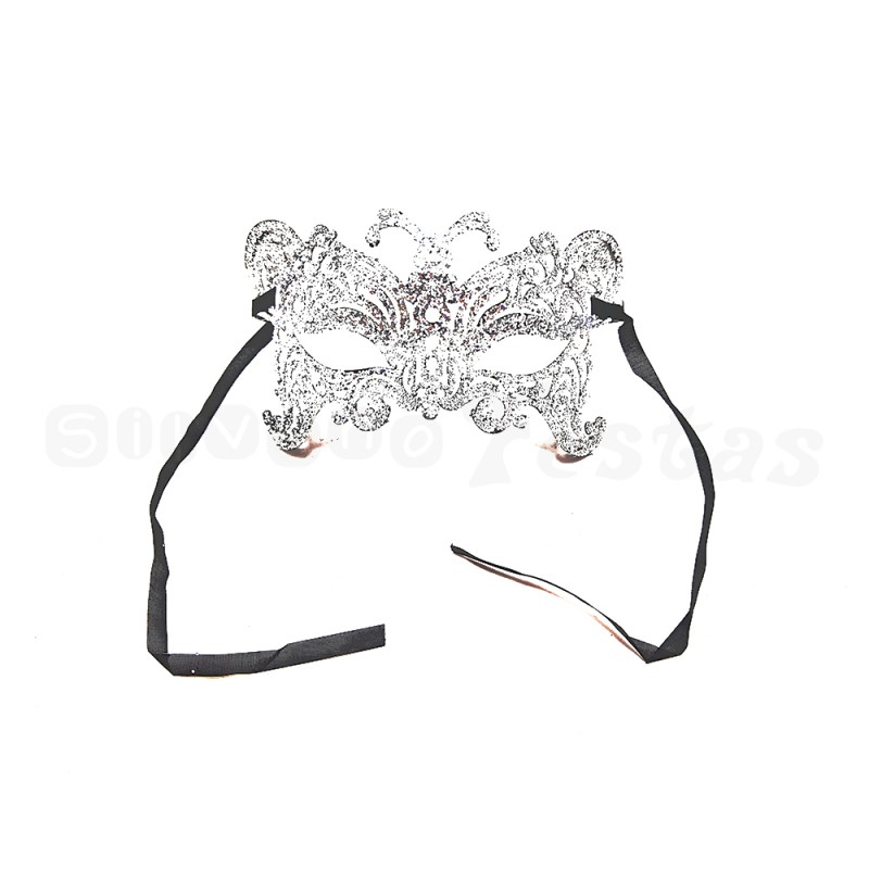 Máscara - Prata • Gliter • Carnaval