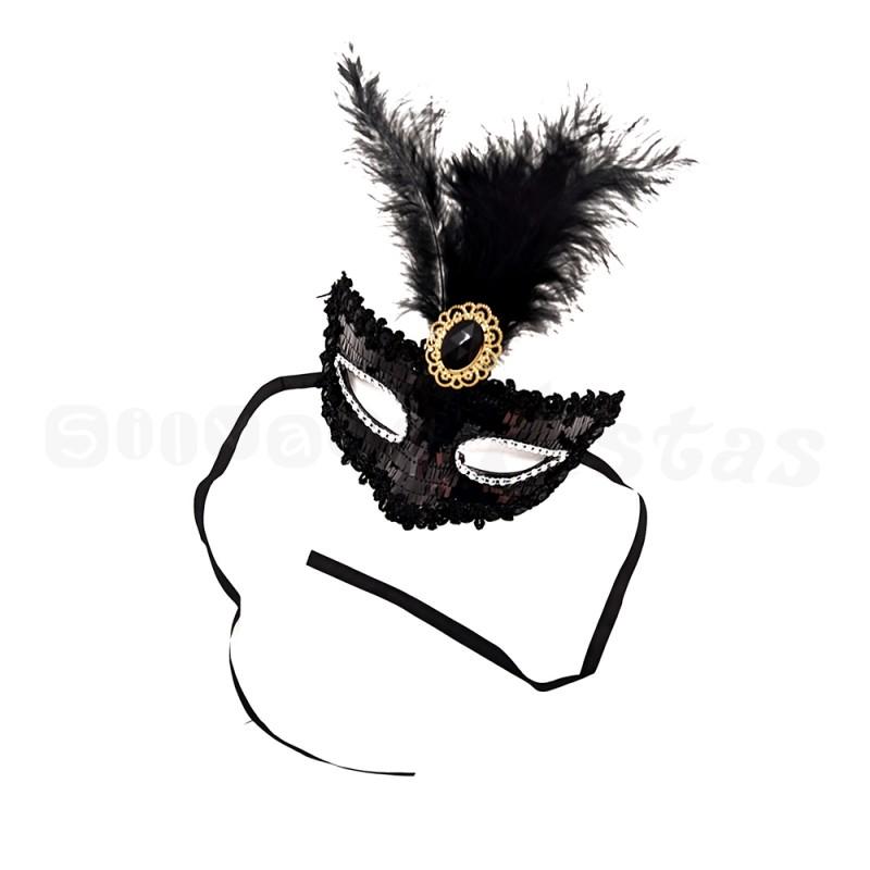 Máscara Luxo • Preto • Carnaval