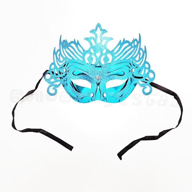 Máscara Glitter • Azul • Carnaval