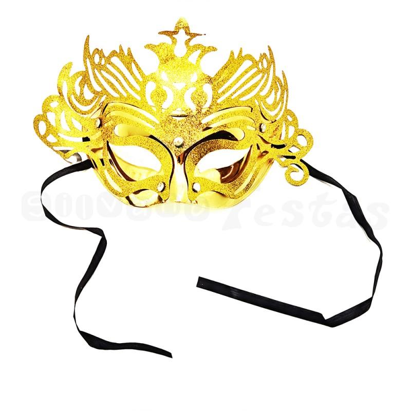 Máscara Glitter • Dourado • Carnaval