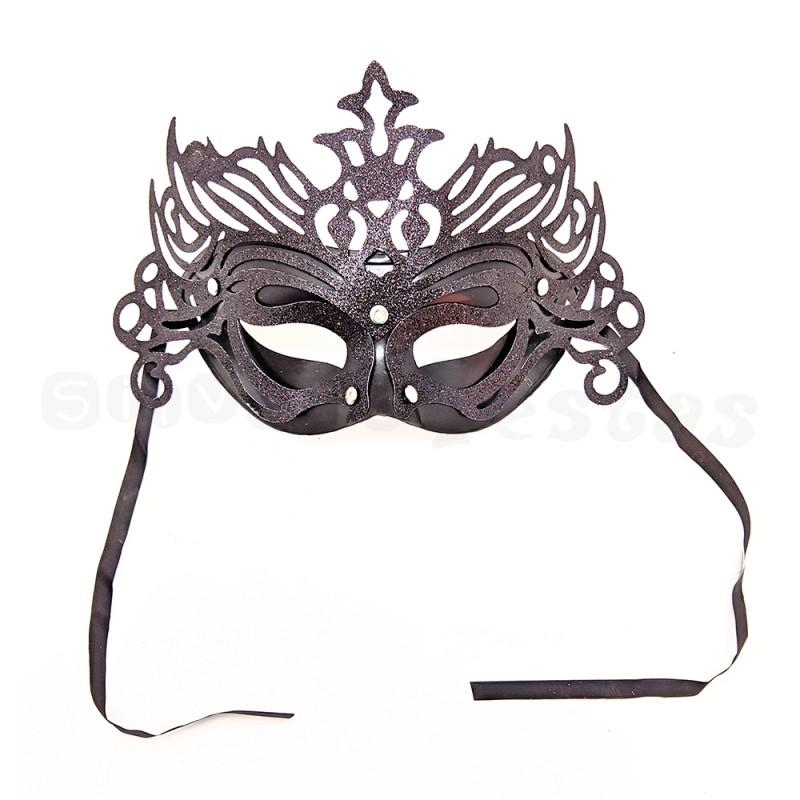 Máscara Glitter • Preta • Carnaval