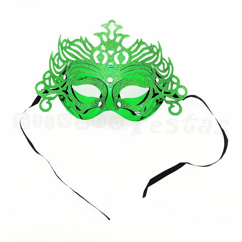 Máscara Glitter • Verde • Carnaval