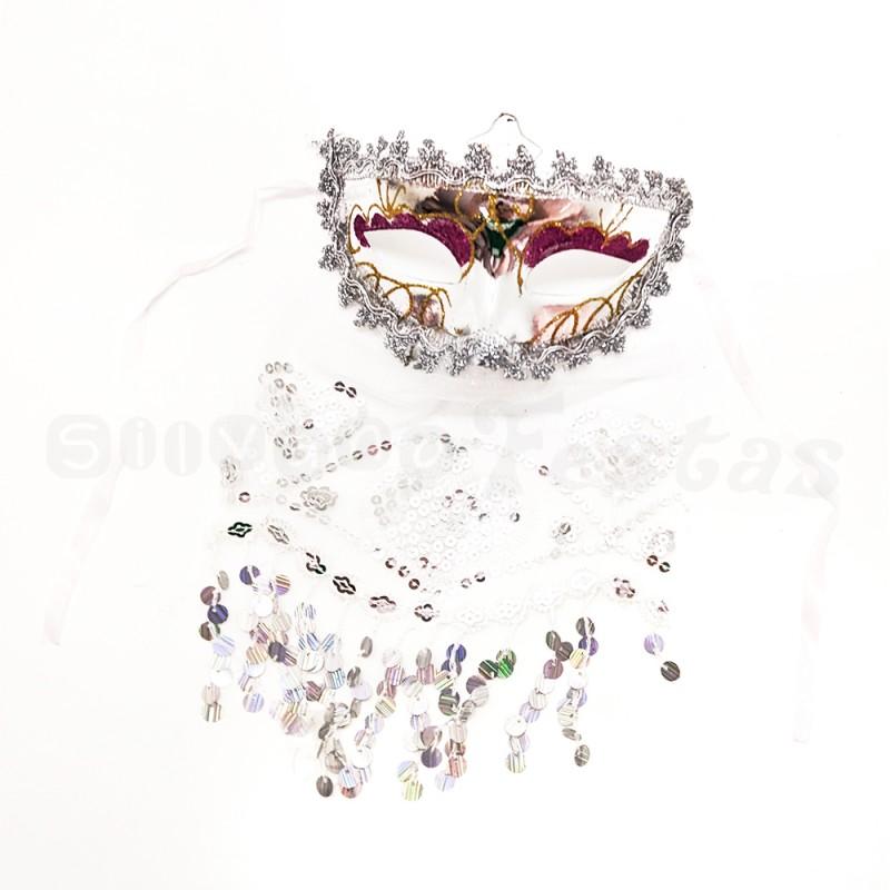 Máscara Odalisca • Prata • Carnaval