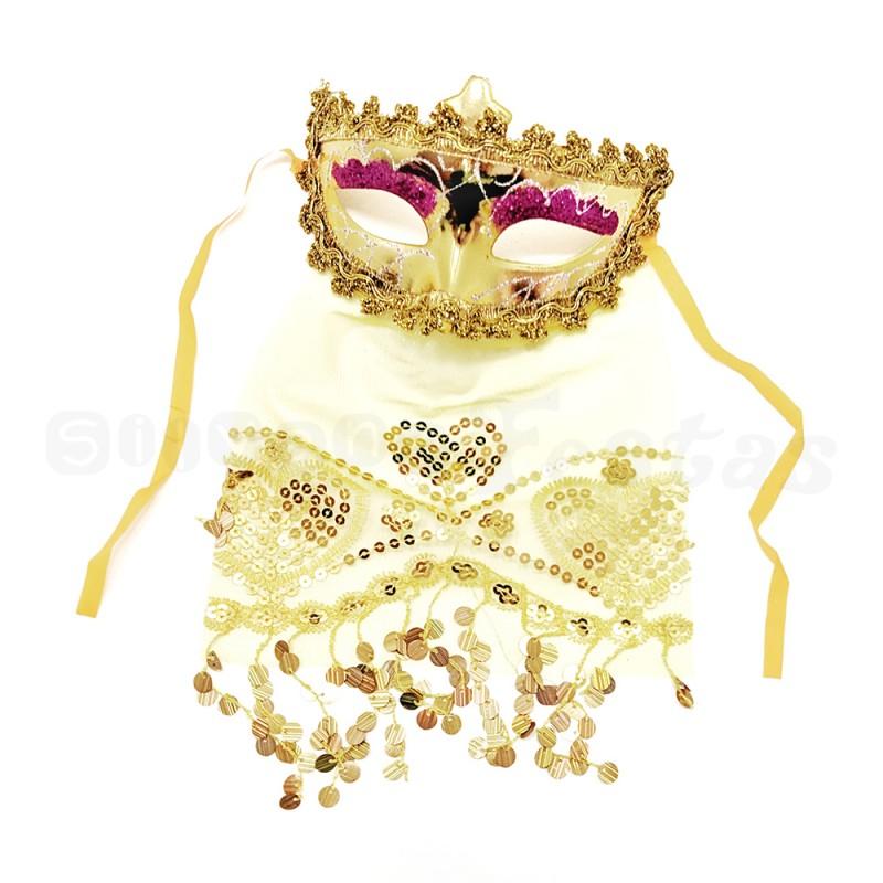 Máscara Odalisca • Dourada • Carnaval
