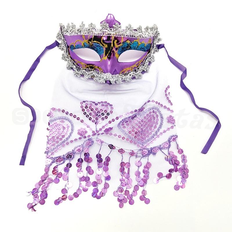 Máscara Odalisca • Lilas • Carnaval