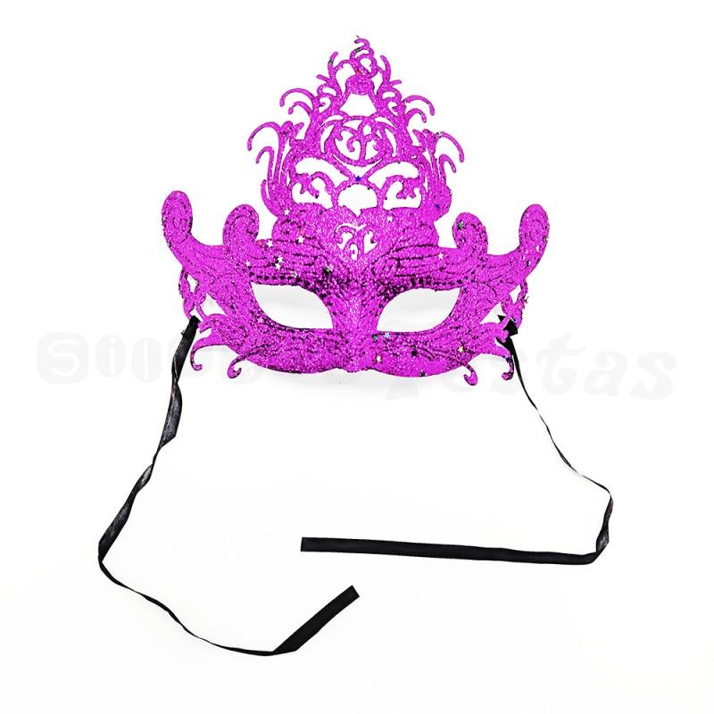 Máscara Glitter • Roxa • Carnaval
