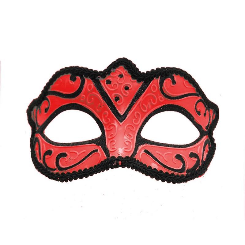Máscara Veneziana • Vermelha Luxo • Carnaval