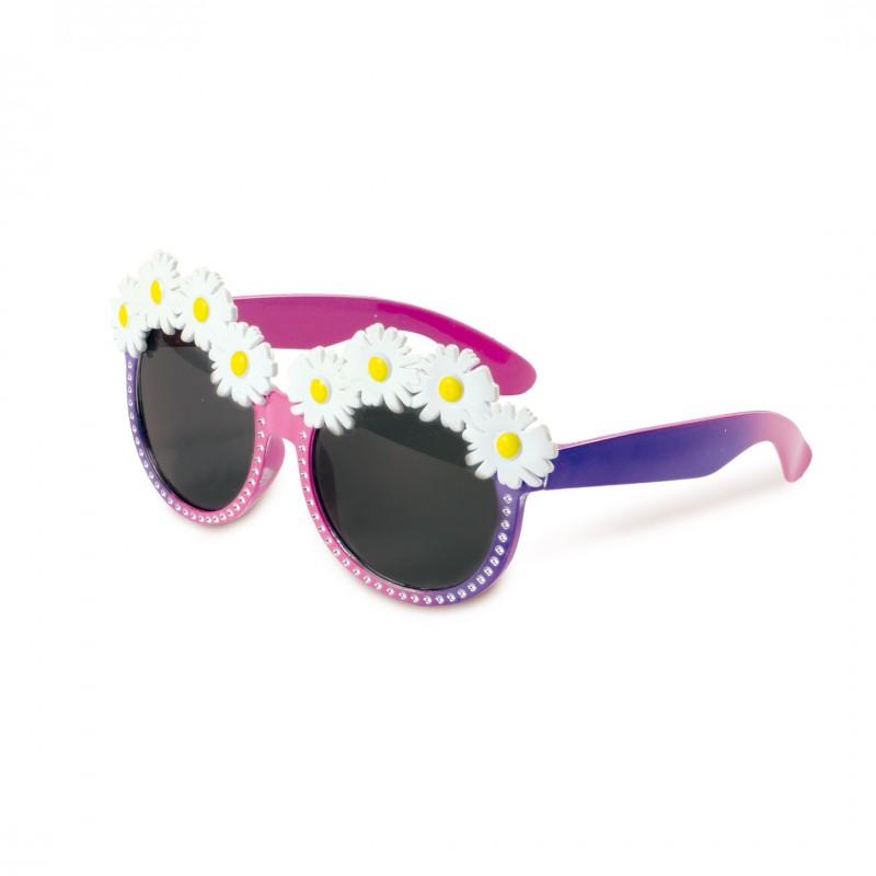Óculos Florido •  Roxo e Rosa
