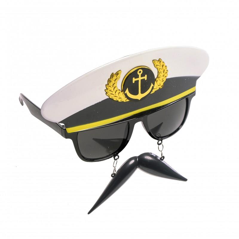 Óculos Capitão com Bigode