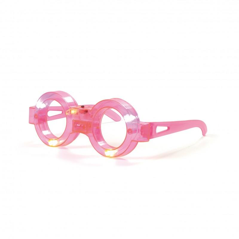 Óculos Led • Rosa • Carnaval