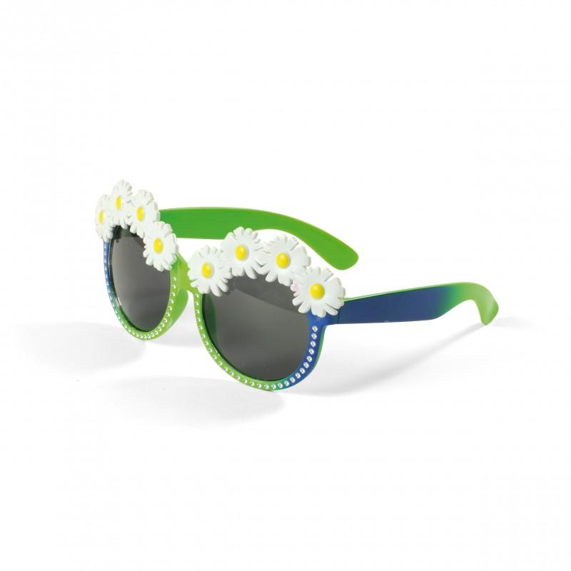 Óculos Florido •  Verde e Azul