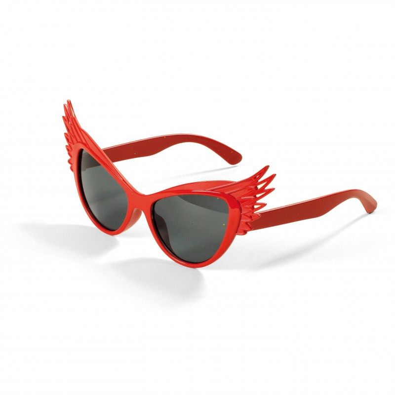 Óculos Escuro com Asinhas Vermelha