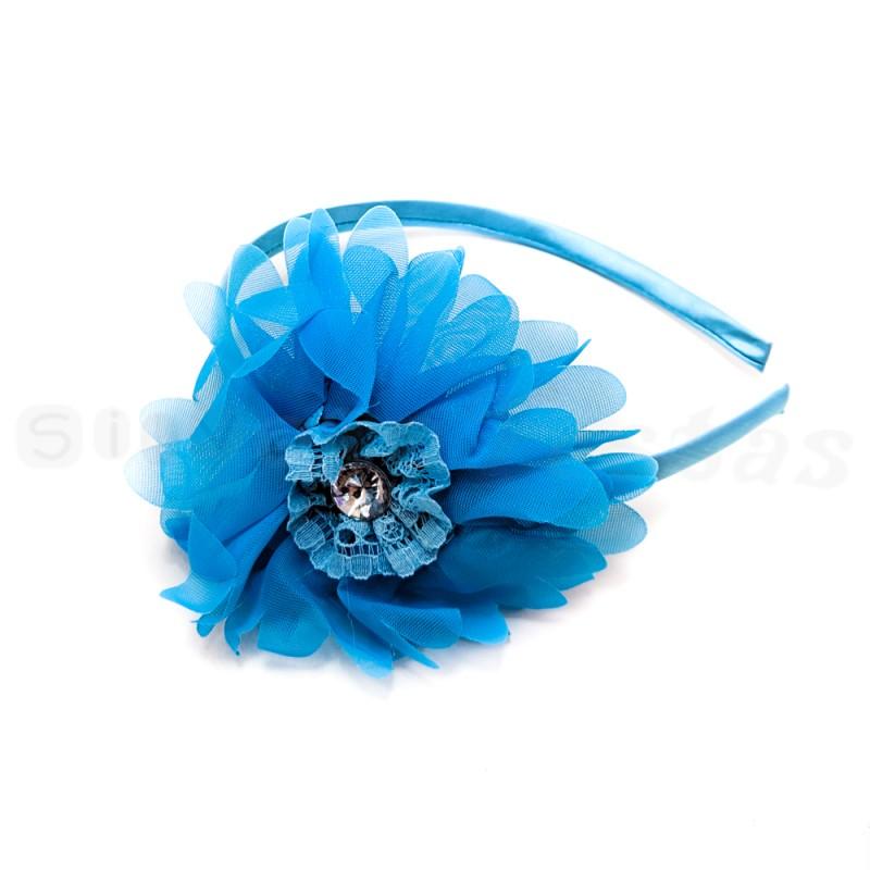 Tiara Flor Azul • Carnaval