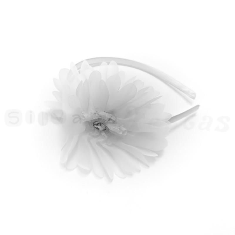 Tiara Flor Branca • Carnaval