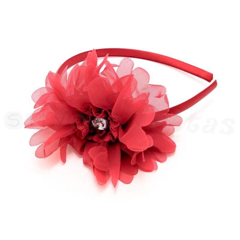 Tiara Flor Vermelha • Carnaval