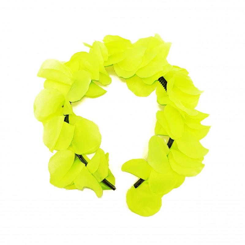 Tiara Havaiana de Flores • Amarelo Neon • Carnaval