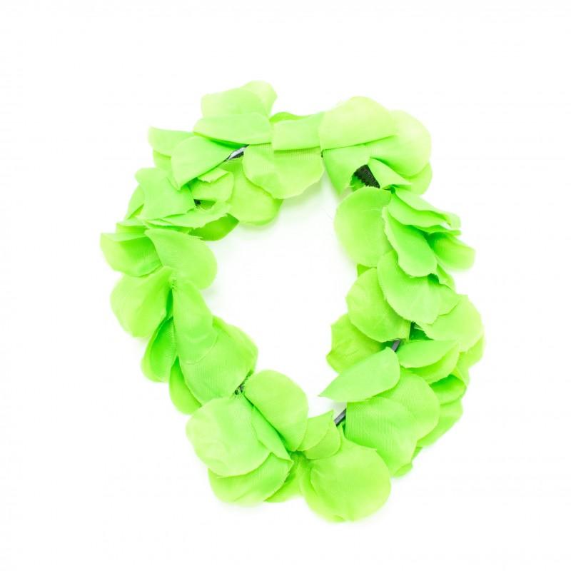 Tiara Havaiana de Flores • Verde • Carnaval