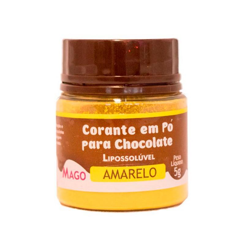 Corante em Pó para Chocolate • Amarelo • Lipossolúvel • 5g • Mago