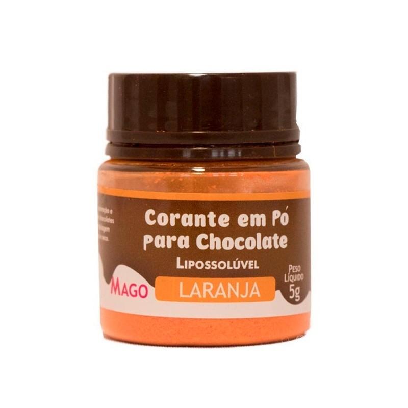 Corante em Pó para Chocolate • Laranja • Lipossolúvel • 5g • Mago