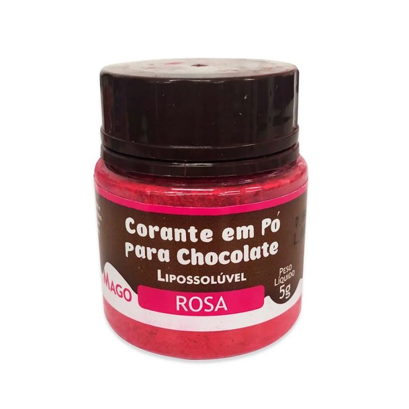 Corante em Pó para Chocolate • Rosa • Lipossolúvel • 5g • Mago