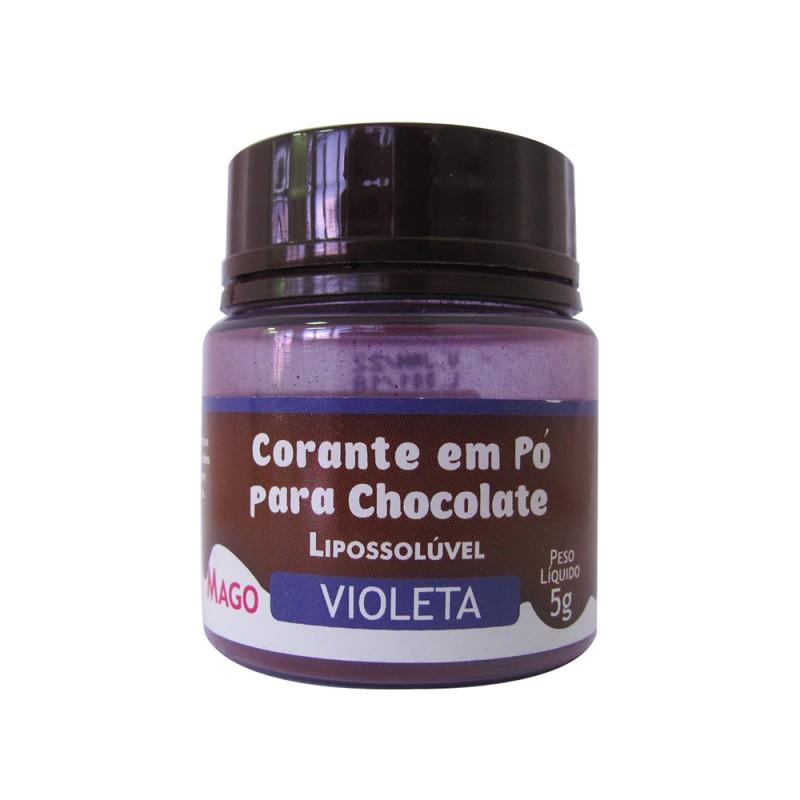Corante em Pó para Chocolate • Violeta • Lipossolúvel • 5g • Mago