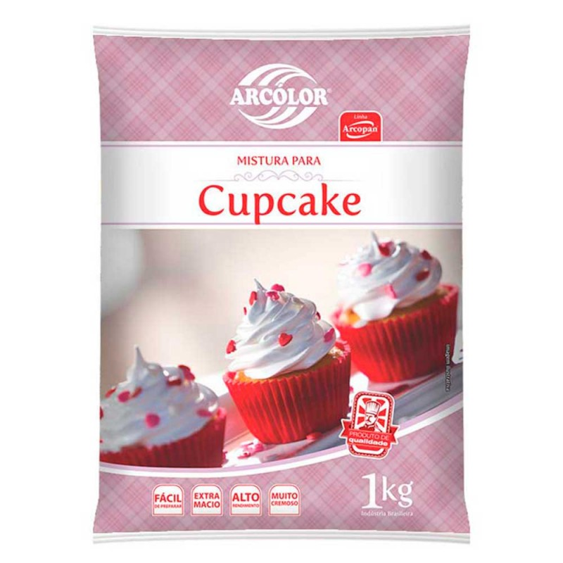 Mistura para Cupcake • 1kg • Arcolor
