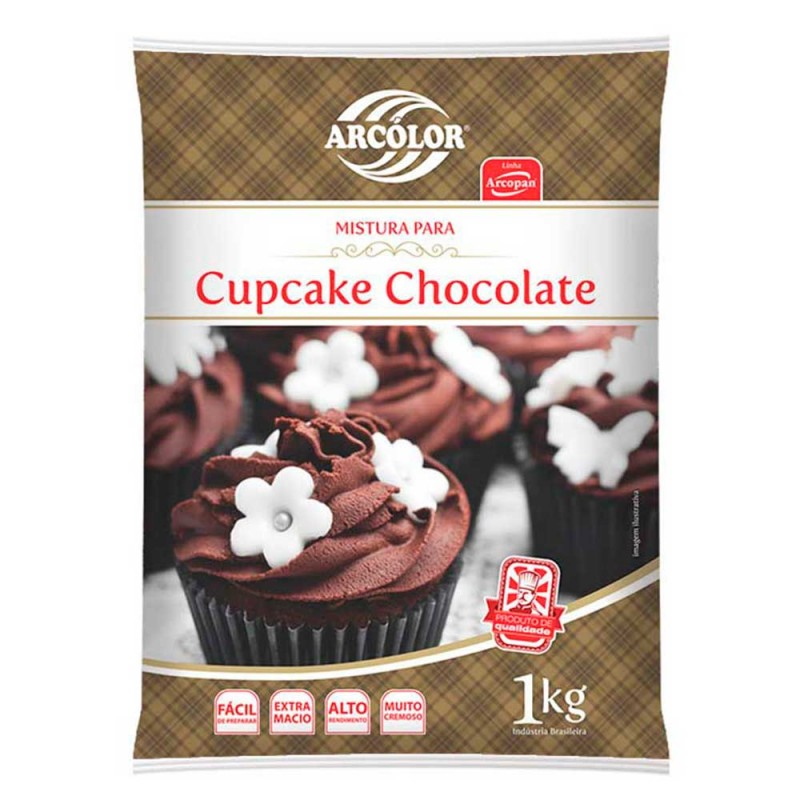 Mistura para Cupcake • Chocolate • 1kg • Arcolor