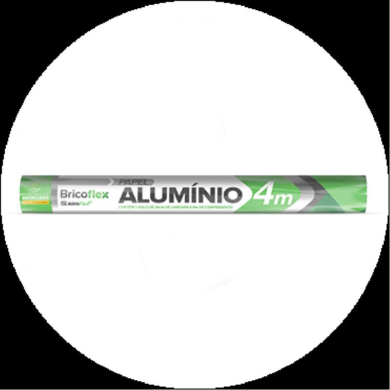 Papel Alumínio • 30cm x 4m • 1un • Bricoflex