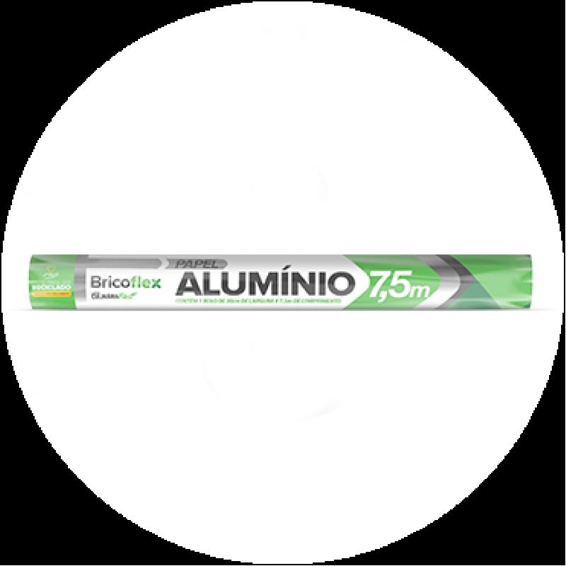 Papel Alumínio • 30cm x 7,5m • 1un • Bricoflex