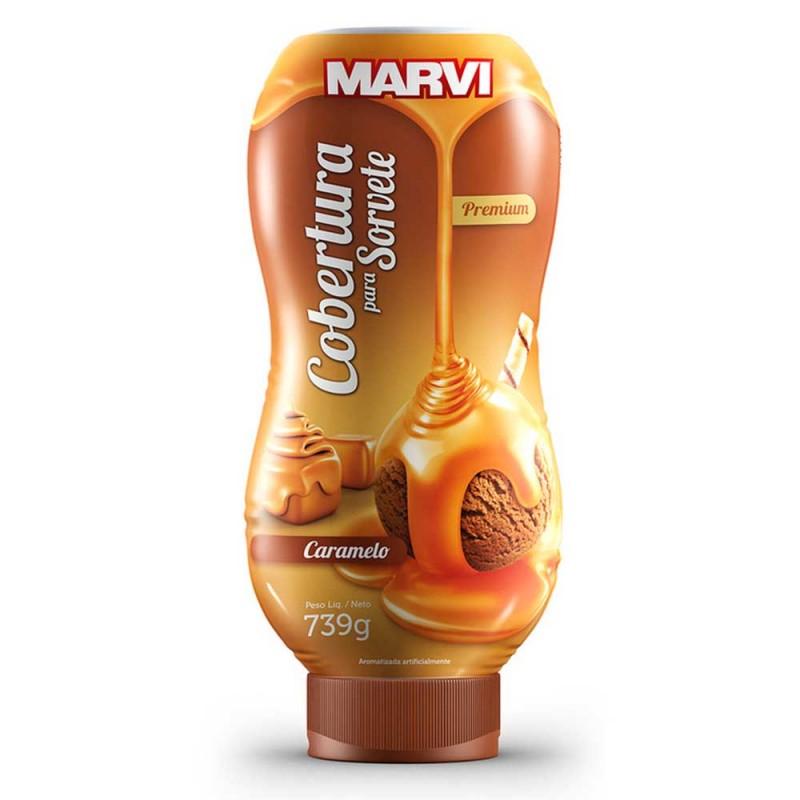 Cobertura para Sorvete • Caramelo • 739g • Marvi