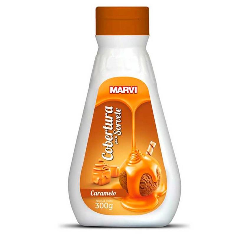 Cobertura para Sorvete • Caramelo • 300g • Marvi