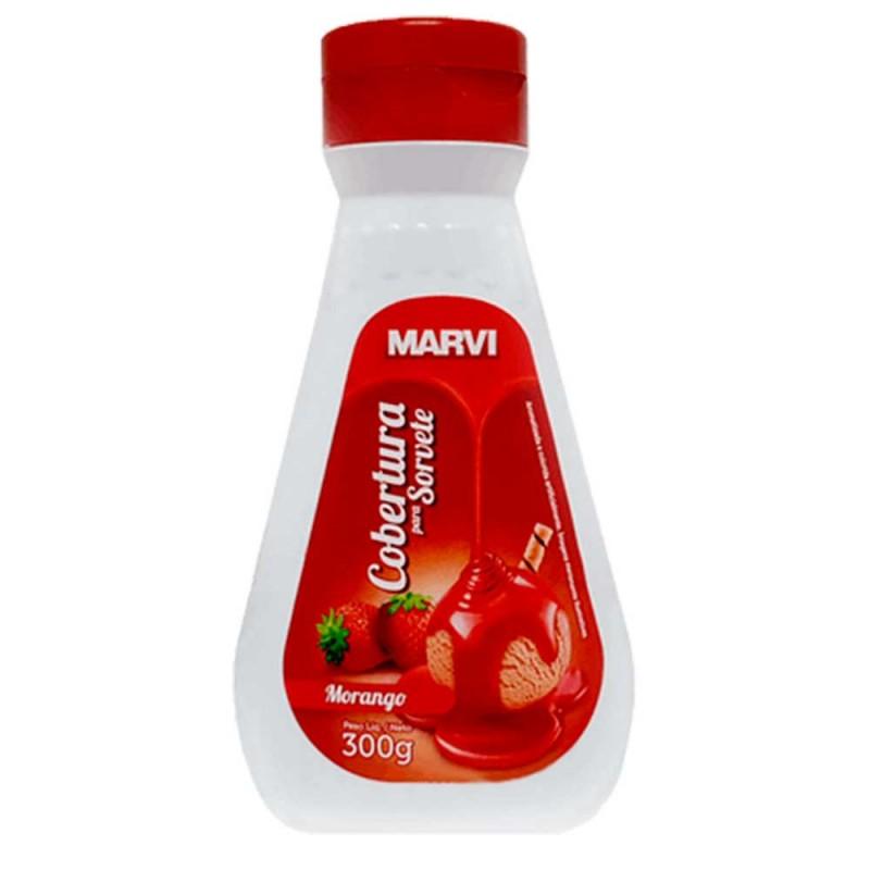 Cobertura para Sorvete • Morango • 300g • Marvi