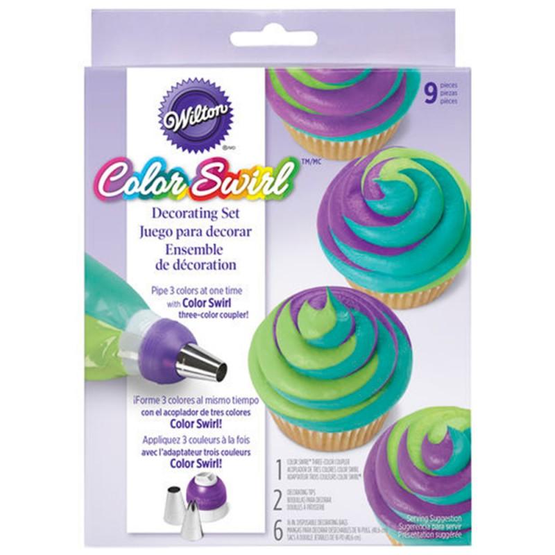 Color Swirl • Jogo Decorativo • Wilton