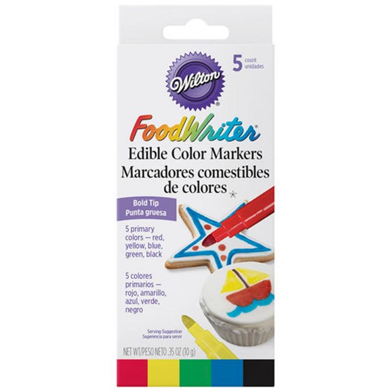 Jogo de Canetas Coloridas p/ Confeitar • Wilton